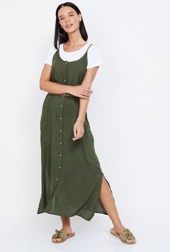 BOSSINI Solid Maxi Dress with T-shirt