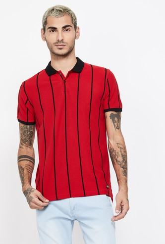 BOSSINI Striped Regular Fit Polo T-shirt