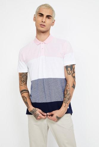 BOSSINI Colourblock Regular Fit Polo T-shirt