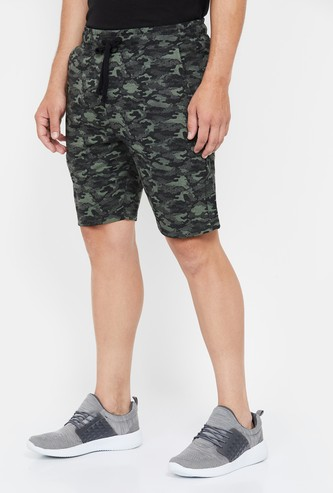 KAPPA Camouflage Shorts with Side Pockets