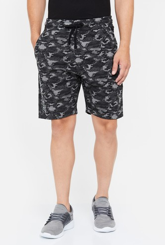 KAPPA Camouflage Print Elasticated Shorts