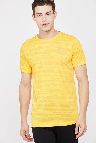 KAPPA Men Textured Regular Fit Training T-shirt