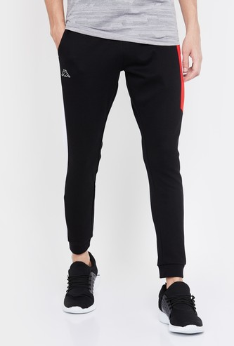 KAPPA Men Colourblock Slim Fit Joggers