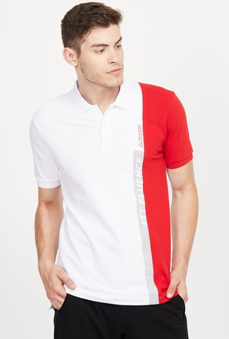 KAPPA Colourblocked Regular Fit Training Polo T-shirt