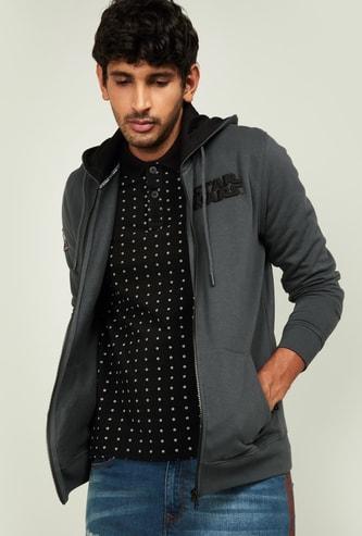 INDIAN TERRAIN Men Embroidered Hooded Sweatshirt