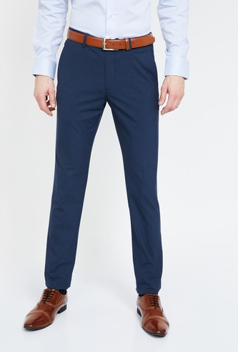 LOUIS PHILIPPE Solid Super Slim Fit Formal Trousers