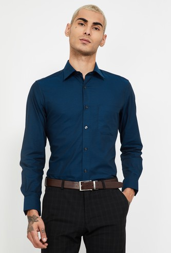 LOUIS PHILIPPE Textured Regular Fit Formal Shirt