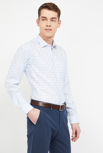 LOUIS PHILIPPE Checked Slim Fit Formal Shirt