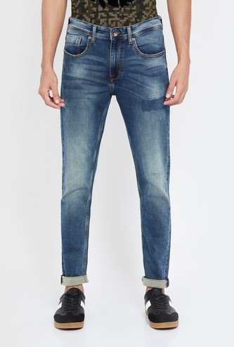 PEPE JEANS Men Stonewashed Slim Tapered Jeans