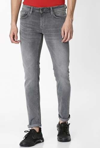 CELIO Roskey Mid-Washed Slim Fit Jeans