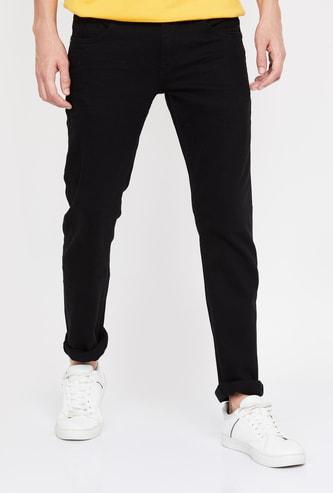 CELIO Men Solid Slim Tapered Jeans
