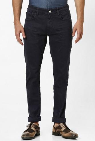 CELIO Solid Slim Straight Jeans