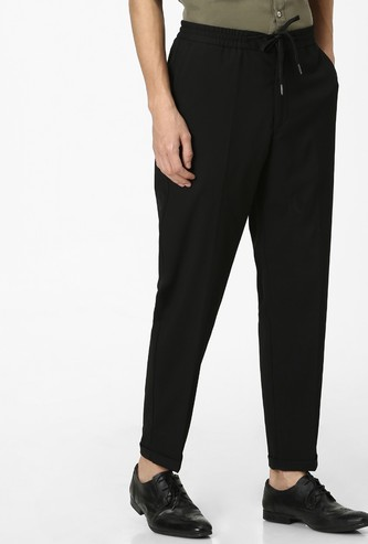 CELIO Solid Slim Fit Casual Trousers