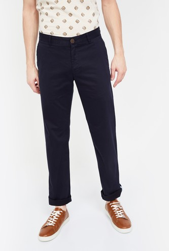 VH SPORTS Solid Slim Fit Casual Trousers