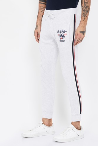 U.S. POLO ASSN. Printed Tape Detailed Joggers