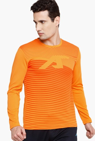 ALCIS Men Printed Full Sleeves Regular Fit Training T-shirt