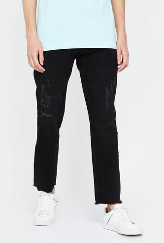ED HARDY Men Solid Slim Fit Jeans
