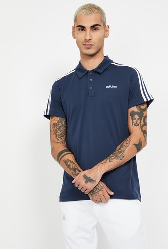 ADIDAS Shoulder Tape Detailed Regular Fit Polo T-shirt