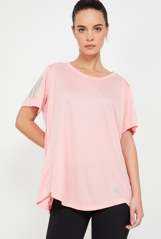 ADIDAS Solid Round Neck T-shirt