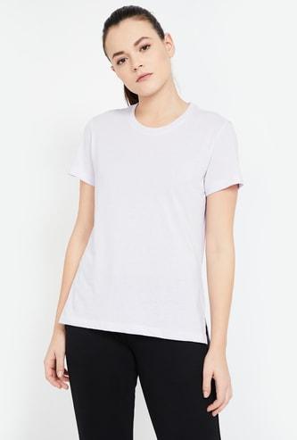 ADIDAS Back Print Regular Fit Training T-shirt