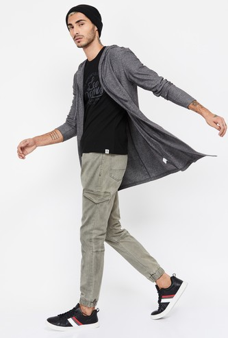FORCA Solid Hooded Cardigan