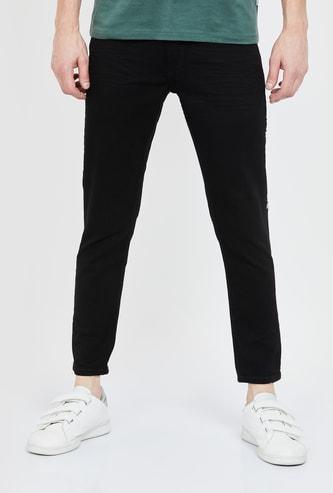 SPYKAR Kane Tape Detailed Slim Tapered Jeans