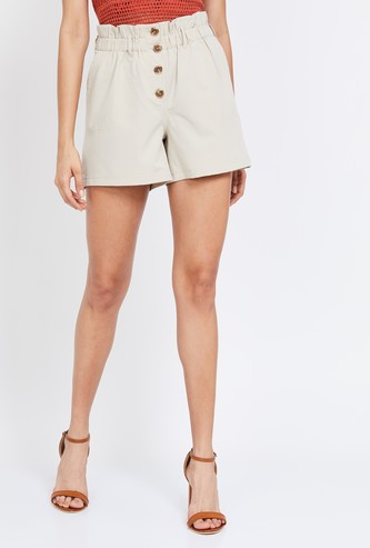 ONLY Solid Shorts with Slant Pockets