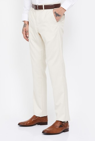 ARROW Textured Slim Tapered Formal Trousers
