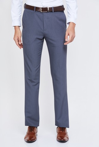 ARROW Solid Slim Tapered Formal Trousers