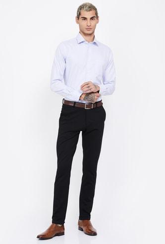 ARROW Textured Full Sleeves  Regular Fit Shirt