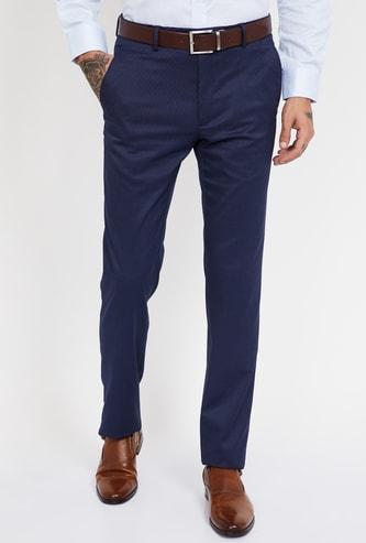 VAN HEUSEN Solid Slim Fit Formal Trousers