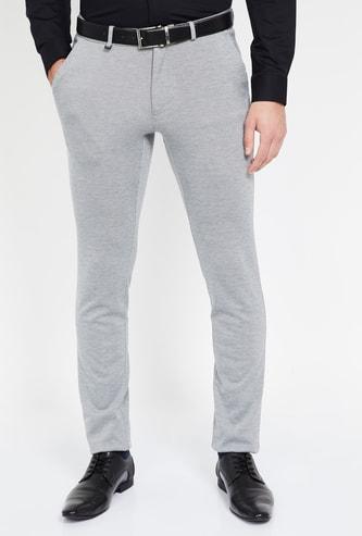 VAN HEUSEN Textured Super Slim Fit Trousers