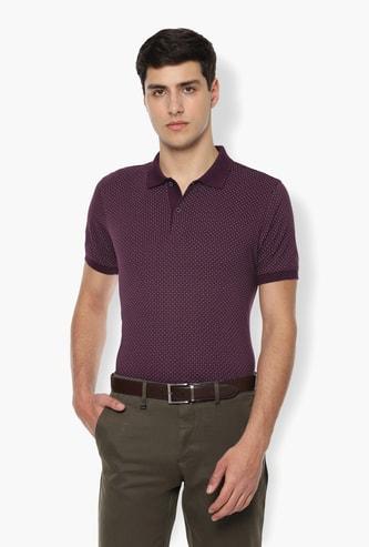 VAN HEUSEN Printed Regular Fit Polo T-shirt