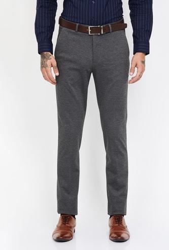 ARROW NEW YORK Textured Super Slim Fit Trousers