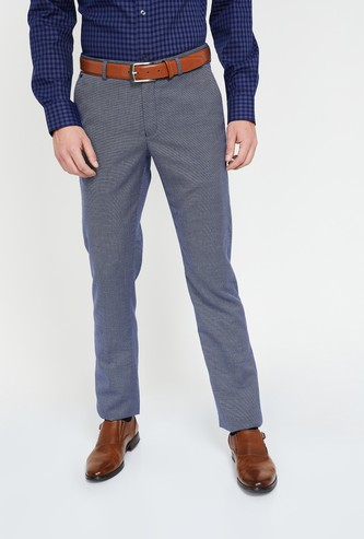 BLACKBERRYS Textured Slim Tapered Trousers