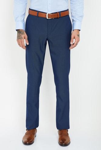 BLACKBERRYS Textured Slim Tapered Trousers