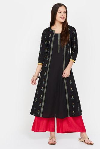 IMARA Printed A-line Dress