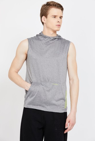 KAPPA Solid Regular Fit Hydroway Hooded T-shirt