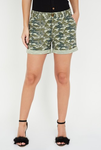 FAME FOREVER Printed Casual Shorts