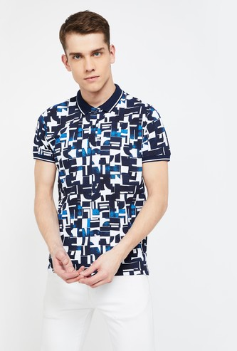 PEPE JEANS Printed Slim Fit Polo T-shirt