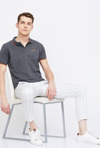 PEPE JEANS Heathered Regular Fit Polo T-shirt