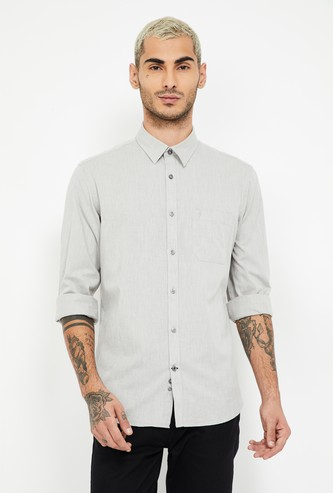 INDIAN TERRAIN Textured Slim Fit Casual Shirt