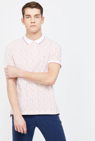INDIAN TERRAIN Printed Slim Fit Polo T-shirt