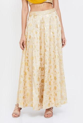 INDYA Printed Maxi Skirt