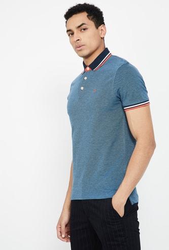 JACK & JONES Solid Slim Fit Polo T-shirt