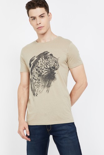 JACK & JONES Graphic Print Short Sleeves Slim Fit T-shirt