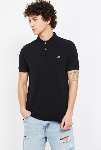 AEROPOSTALE Solid Regular Fit Polo T-shirt