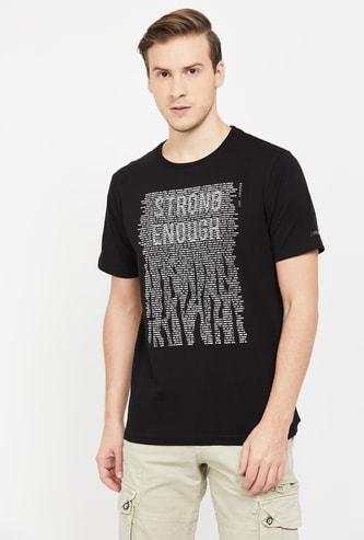 LEE COOPER Mens Printed Regular Fit Crew Neck T-shirt