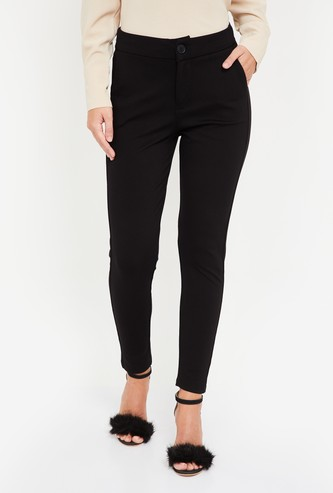 KRAUS Women Solid Casual Trousers