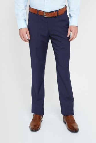 LOUIS PHILIPPE Textured Regular Fit Trousers